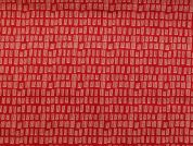 Rico Woven Cotton Fabric  Red