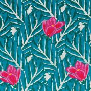 Rico Cotton Gauze Fabric  Pink & Teal