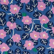 Rico Cotton Gauze Fabric  Blue & Lilac