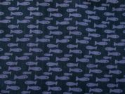 Rico Double Cotton Gauze Fabric  Navy Blue