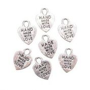 Darice Handmade With Love Labels  Silver