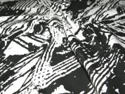 Patterned Stretch Cotton Dress Fabric  Black & White