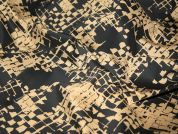 Patterned Stretch Cotton Dress Fabric