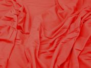 Stretch Jersey Dress Fabric  Coral Red