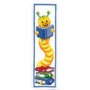 Vervaco Counted Cross Stitch Kit Bookmark Bookworm