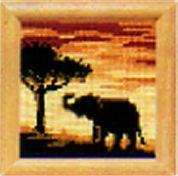 Vervaco Counted Cross Stitch Kit Sunset Elephant