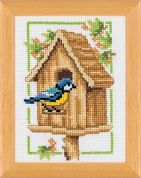 Vervaco Counted Cross Stitch Kit Birdhouse Spring