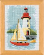 Vervaco Counted Cross Stitch Kit Lighthouse Scene 1