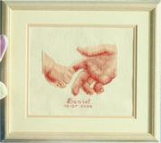 Vervaco Counted Cross Stitch Kit Birth Record Hands