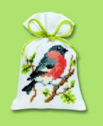 Vervaco Counted Cross Stitch Kit Potpourri Bag Nuthatch