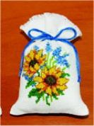 Vervaco Counted Cross Stitch Kit Potpourri Bag Sunflowers