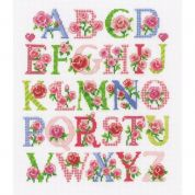 Vervaco Counted Cross Stitch Kit Floral Alphabet