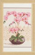 Vervaco Counted Cross Stitch Kit Pink Orchid