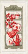 Vervaco Counted Cross Stitch Kit Kitchen Shelves