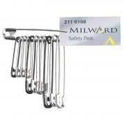 Milward Safety Pins  Silver & Black