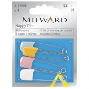 Milward Nappy Pins  Assorted Colours