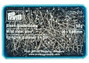 Prym 0.65 x 16mm Straight Mild Steel Pins 16mm  Silver