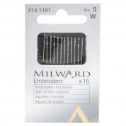 Milward Embroidery Crewel Sewing Needles