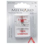 Milward Twin Stretch Sewing Machine Needles