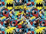 Camelot Fabrics DC Girl Power II Batgirl Poplin Quilting Fabric