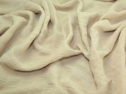 Crinkle Textured Polyester Chiffon Dress Fabric  Camel
