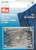 Prym 0.50 x 30mm Hardened & Tempered Steel Straight Pins 30mm  Silver