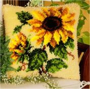 Vervaco Latch Hook Cushion Kit Sunflowers