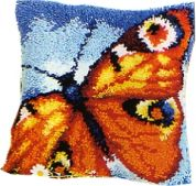 Vervaco Latch Hook Cushion Kit Butterfly