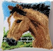 Vervaco Latch Hook Cushion Kit Horse