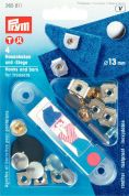 Prym Press On Rivetable Hooks & Bars for Trousers & Skirts with Plate  Silver