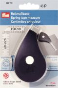 Prym inches Ergonomic Spring Tape Measure 1.5m