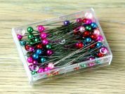 Prym 0.58 x 40mm Pearl Headed Pins 40mm  Assorted Colours