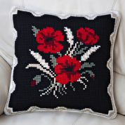 Twilleys of Stamford Poppies & Corn Large Count Cushion Cross Stitch Kit