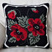 Twilleys of Stamford Poppy Posy Large Count Cushion Cross Stitch Kit