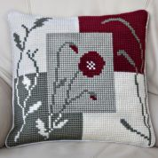 Twilleys of Stamford Mosaic Poppy Large Count Cushion Cross Stitch Kit