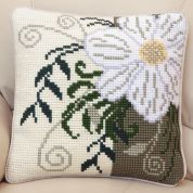 Twilleys of Stamford Corner Flower Large Count Cushion Cross Stitch Kit