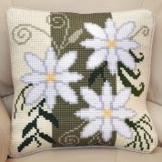 Twilleys of Stamford Floral Stripe Large Count Cushion Cross Stitch Kit