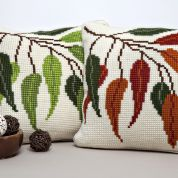 Twilleys of Stamford Seasonal Leaves Large Count Cushion Cross Stitch Kit