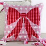 Twilleys of Stamford Polka Dot Bow Large Count Cushion Cross Stitch Kit