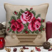 Twilleys of Stamford Antique Basket Large Count Cushion Cross Stitch Kit