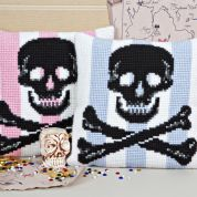 Twilleys of Stamford Skull Large Count Cushion Cross Stitch Kit