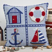 Twilleys of Stamford Nautical Cushion Large Count Cushion Cross Stitch Kit
