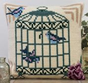 Twilleys of Stamford Feathered Friends Large Count Cushion Cross Stitch Kit