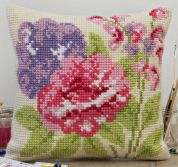 Twilleys of Stamford Summer Blooms Large Count Cushion Cross Stitch Kit