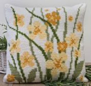 Twilleys of Stamford Meadow Flowers Large Count Cushion Cross Stitch Kit