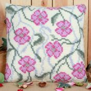 Twilleys of Stamford Rambling Blossom Large Count Cushion Cross Stitch Kit