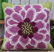 Twilleys of Stamford In Full Bloom Large Count Cushion Cross Stitch Kit