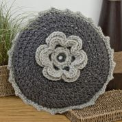 Twilleys of Stamford Grey Round Cushion Cover Crochet Kit