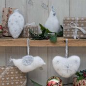 Twilleys of Stamford White Christmas Hangers Knitting Kit
