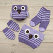Twilleys of Stamford Owl Baby Hat & Mittens Knitting Kit